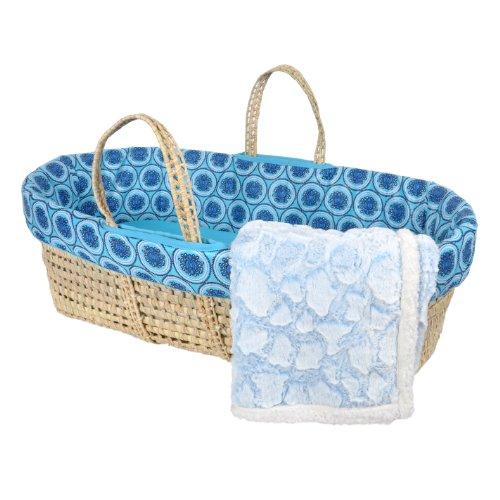 Tadpoles Limited Edition Moses Basket Set, Caribbean Blue
