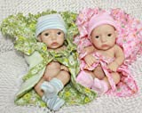 TY Reborn Baby Dolls Lifelike Baby twins Dolls the Boy Brooke and the Girl Tracy 11 Inch