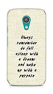 AMEZ always remember to fall asleep with a dream Back Cover For Motorola Moto G2