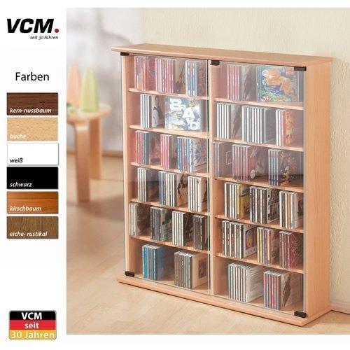 VCM-50407-VCM-CDDVD-Turm-fr-Roma-300-CDs-kirschbaum