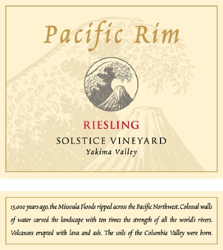 2012 Pacific Rim Riesling Solstice Vineyard 750 Ml