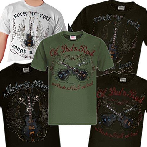 Shirtmatic-Rock-n-Roll-Rockabilly-Guitar-Vintage-Loud-Gitarre-T-Shirt