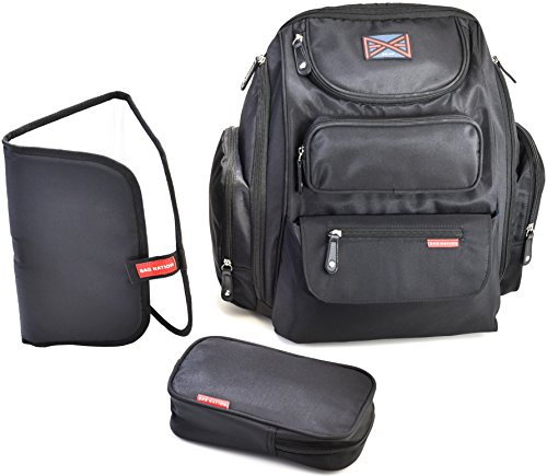Bag Nation Diaper Bag Backpack (Black) - 12