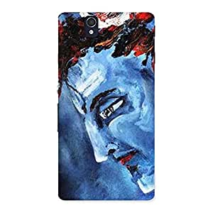Gorgeous Mahadev Blue Color Print Back Case Cover for Sony Xperia Z