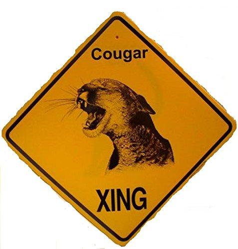 COUGAR X-ING Sign--Orange Plastic Alert Crossing Sign