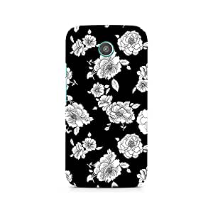 Ebby Black Floral Premium Printed Case For Moto X
