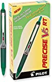 Pilot Precise V5RT Rolling Ball Pen, Extra Fine Point (Green)