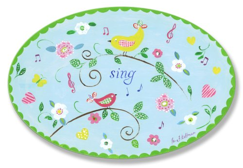The Kids Room by Stupell Sing Birds on Branches Oval Wall Plaque