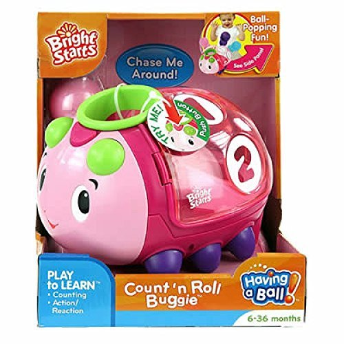 Bright Starts Count 'N Roll Buggie Pink - 1
