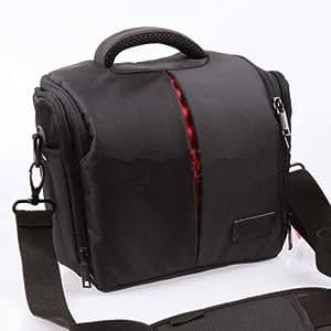 Etui imperméable noir & Housse anti pluie pour appareils photo Canon EOS 100D 550D 600D 6500D 700D 1100D 1200D,50D 60D 70D,7D,6D SX50,Nikon D7100 D7000 D5300 D5100 D5200,D3100,D3200 D3300,D800,L830 P520 FUJI FinePix HS30 HS50 X-S1 S4500 S8600,Panasonic FZ72 FZ200,G6 GH6,OLYMPUS E30 E3 E1,Sony HX400 HX300 A58,A65,A99,A77,Pentax DSLR Reflex Numériques.