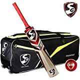 SG Extreme Cricket Kit (1 SG Phoenix Extreme Kashmir Willow Bat (Short Handle) + 1 SG Club Leather Ball + 1 SG Teampak Kit Bag, With Wheels)