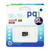 PQI microSDXCメモリカード (64GB, microSDXCカード - UHS-I / Class10 / フルHD )