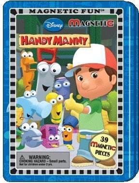 1 X Disney Handy Manny Magnetic Fun Tin By Lee Publications