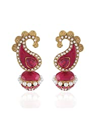 I Jewels Tradtional Gold Plated Elegantly Handcrafted Pair Of Fashion Earrings For Women. - B00N7IO6IO