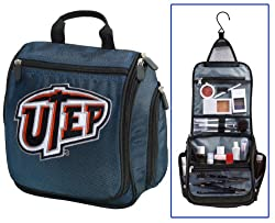 UTEP Miners Cosmetic Bag or Mens Shaving Kit - Travel Bag UTEP Makeup Toiletry