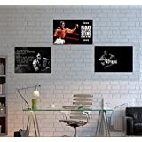 Muhammad Ali Quotes Poster - Motivational Poster Set Of 3 With Free Gumming Tapes - Unframed Posters Size 12 X...