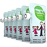 Reusable Food Pouch 6 Pack, Refillable for Snacks, Baby Food Storage, Lunches Jumbo 9 ounce