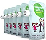 Reusable Food Pouch 6 Pack, Refillabl...