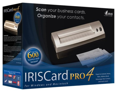 Iris USOA393 IRISCard Pro 4 Business Card Scanner
