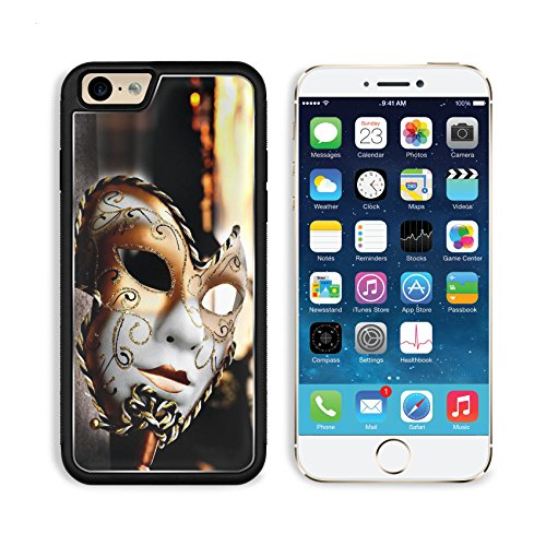 [MSD Premium Apple iPhone 6 iPhone 6S Aluminum Backplate Bumper Snap Case Venetian Mask by the River Bridge with Sunset IMAGE] (Custom Phantom Of The Opera Costumes)
