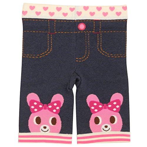 ミキハウス ホットビスケッツ(MIKIHOUSE HOT BISCUITS) おひざにビーンズ&キャビット・7分丈スパッツ 90cm ピンク
