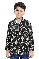Hushbhi Boy's Shirt (HB0055_Multi-Coloured_7-8 Y)