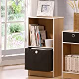 Mutipurpose Storage Cabinet Shelf with Bin Drawer - British Oak Finish