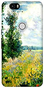 The Racoon Lean Poppy Field, Argenteuil hard plastic printed back case / cover for Huawei Nexus 6P