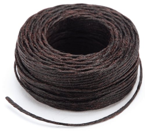 Lowest Prices! Tandy Leather Factory Waxed Thread, 25-Yard, Brown