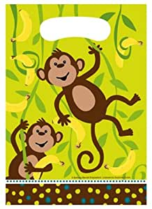 Creative Converting Monkeyin Around Party Loot Bags|8 pcs