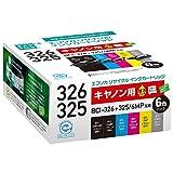 エコリカ リサイクルインクカートリッジ CANON 6個パック BCI-326+325/6MP ECI-C325+3266P/BOX