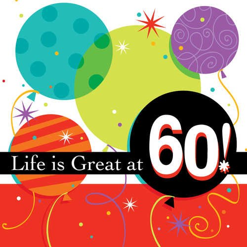 "Life Is Great 60th 7"" Napkin"