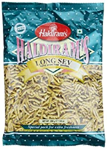 Haldirams Long Sev Spicy Gram Flour Noodles 706-ounce Pouch Pack Of 5 from Haldiram
