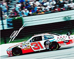 AUTOGRAPHED 2008 Jeff Burton #31 AT&T Racing MICHAEL PHELPS (USA Olympics) SIGNED... by Trackside Autographs