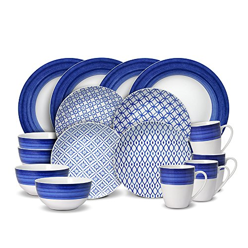 Gourmet Basics Madison 32 Piece Dinnerware Set, Service for 8 (Porcelain Service For 12 compare prices)