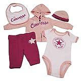 Converse Baby - Mädchen Unterwäsche-Set, 5 Pc Boxed Gift Set, GR. 50 (Herstellergröße: 0-3 Months), Rosa (Eglantine)
