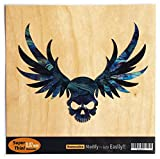Winged Skull /Black Pearl Inlay Sticker Decal For Guitar & Bass