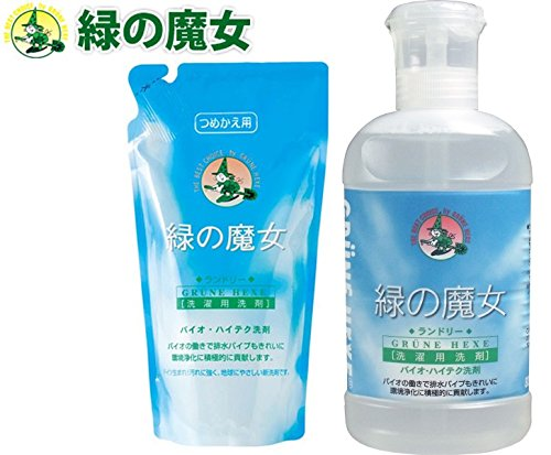 緑の魔女 洗濯用洗剤820ml&詰替620ml セット