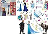Disney Frozen Game Rug with Frozen Peel and Stick Wall Decals, 36 Count