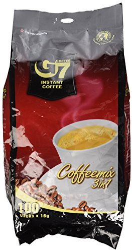 G7 3-in-1 Instant Premium Vietnamese Coffee, 100 Servings/Sachets