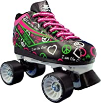 Hot Sale Pacer Heart Throb Womens Black Quad Speed Roller Derby Skates