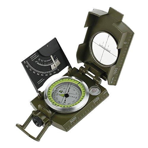 proster 方位磁針 コンパス 多機能 方向 180度 勾配度 照準 縮尺 測量 遠足 キャンプ 旅行 探険などに適用 折り畳む可能 18ヶ月保証