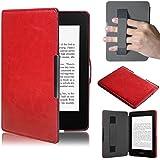 Malloom® Para Amazon Kindle Paperwhite 5 puro Premiu Ultra delgado cuero inteligente cáscara Fundas (rojo(red))