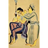 Barber attending to a seated girl (Print On Demand)