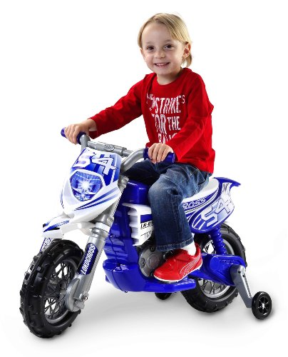 Loko 99620-B - Moto elettrica Dirt Bike, colore: Blu