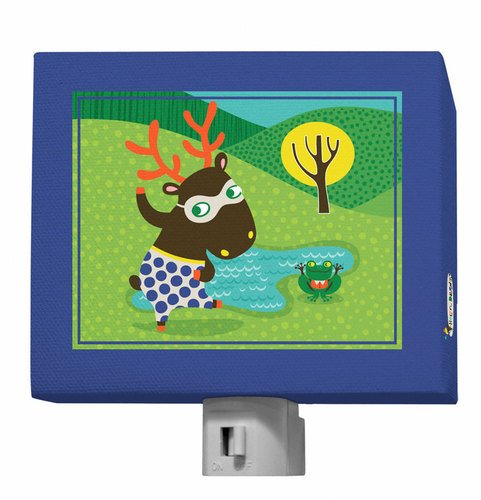 "Oopsy Daisy Funky Woodland Creatures Night Light, Boy, 5"" x 4"""
