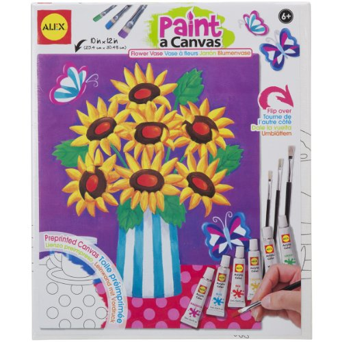 ALEX Toys Artist Studio Paint A Canvas Flower Vase Art Kit - 1
