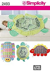 Simplicity Sewing Pattern 2493 Kids Rag Quilts Caterpillar, Turtle, Dinosaur by Longia Miller Designs, One Size