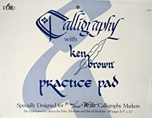 Calligraphy With Ken Brown Practice Pad