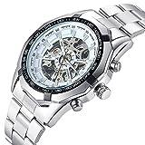 Genießen Armbanduhren Automatik Chronograph Uhr Edelstahl Uhrarmband Business Watch Mechanische